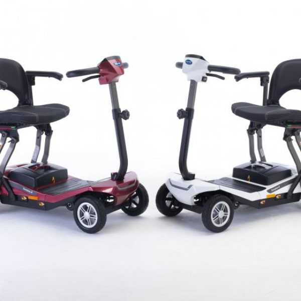 Invacare Scorpius A is avaiable in two colours, red and white
