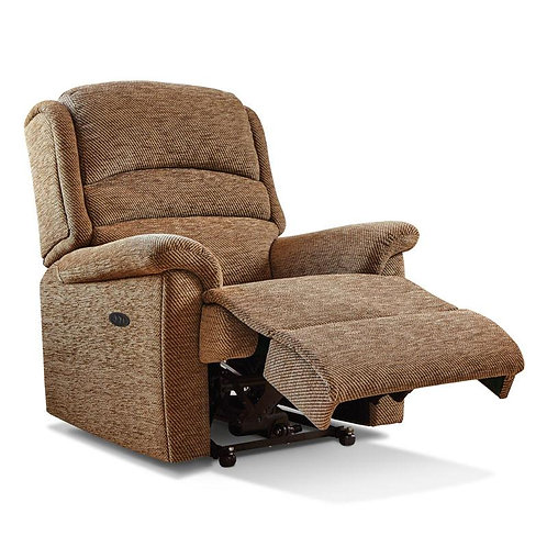 Sherborne Olivia material rise and recline chair side view