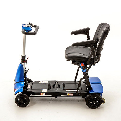 Blue Monarch Mobie Plus mobility scooter side view