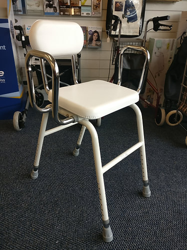 Multi purpose all purpose mobility white adjustable stool