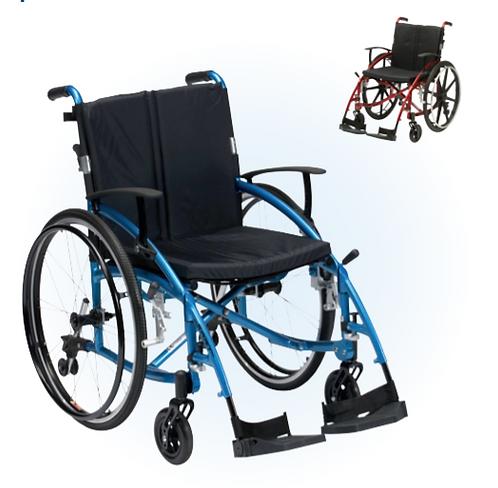 Drive spirit electric blue lightweight  self-propelled wheelchair