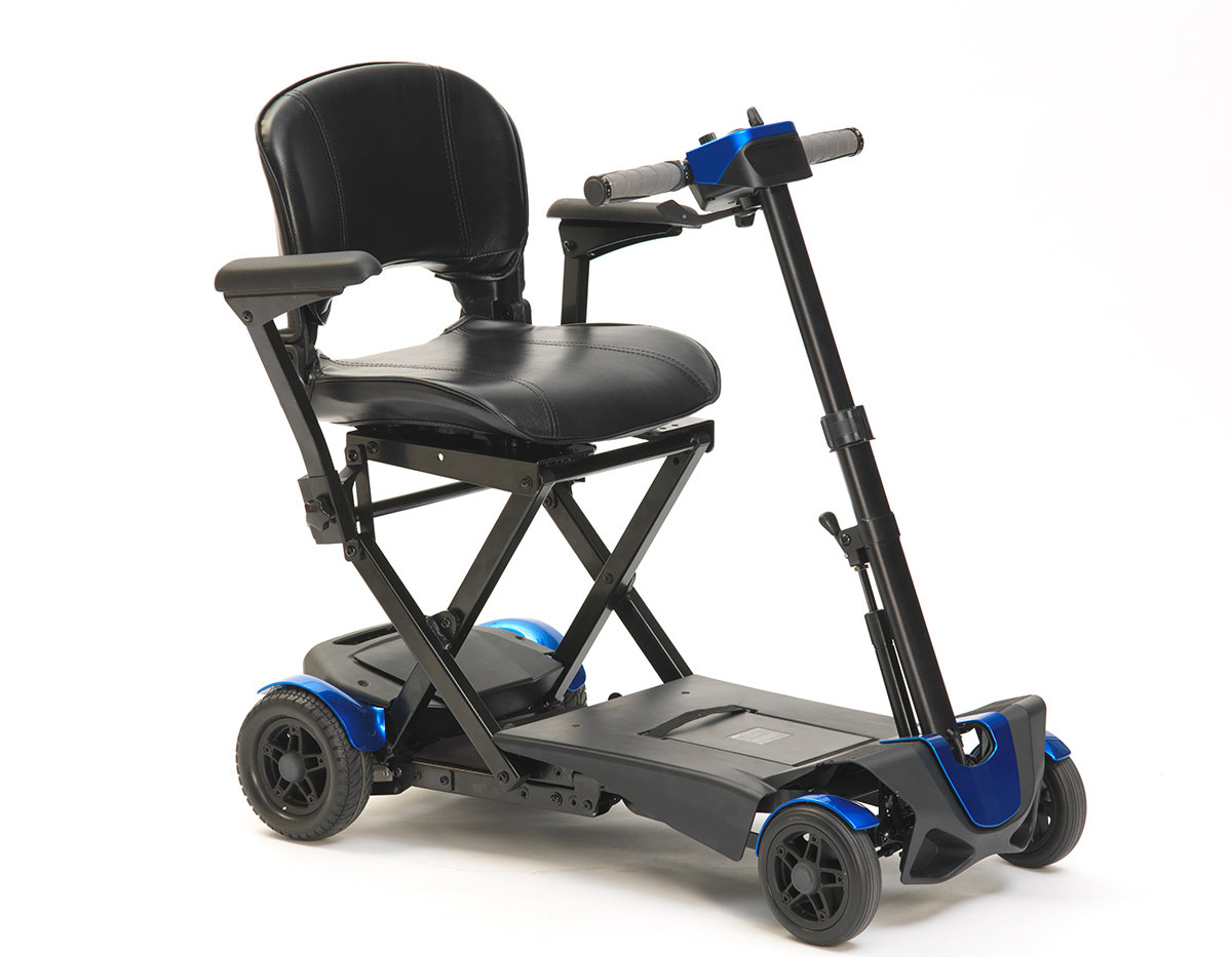 Drive auto fold blue mobility scooter