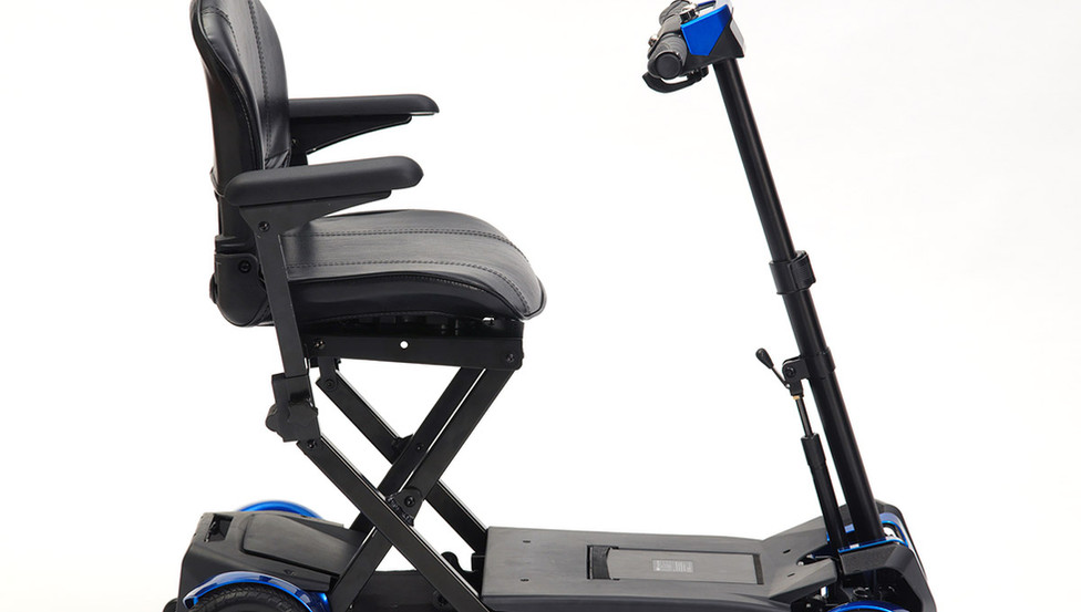 Drive autofold mobility  scooter in blue