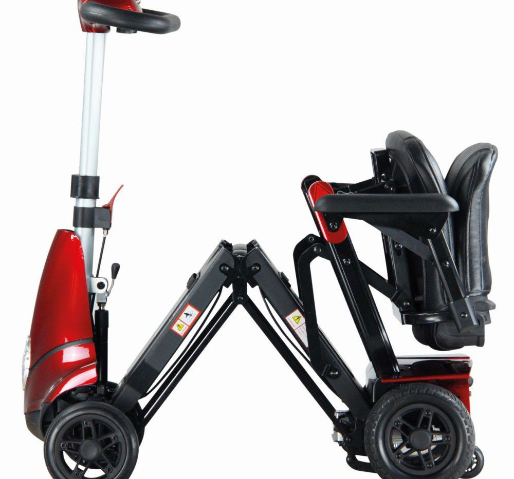 Monarch Mobility Mobie plus half open in red