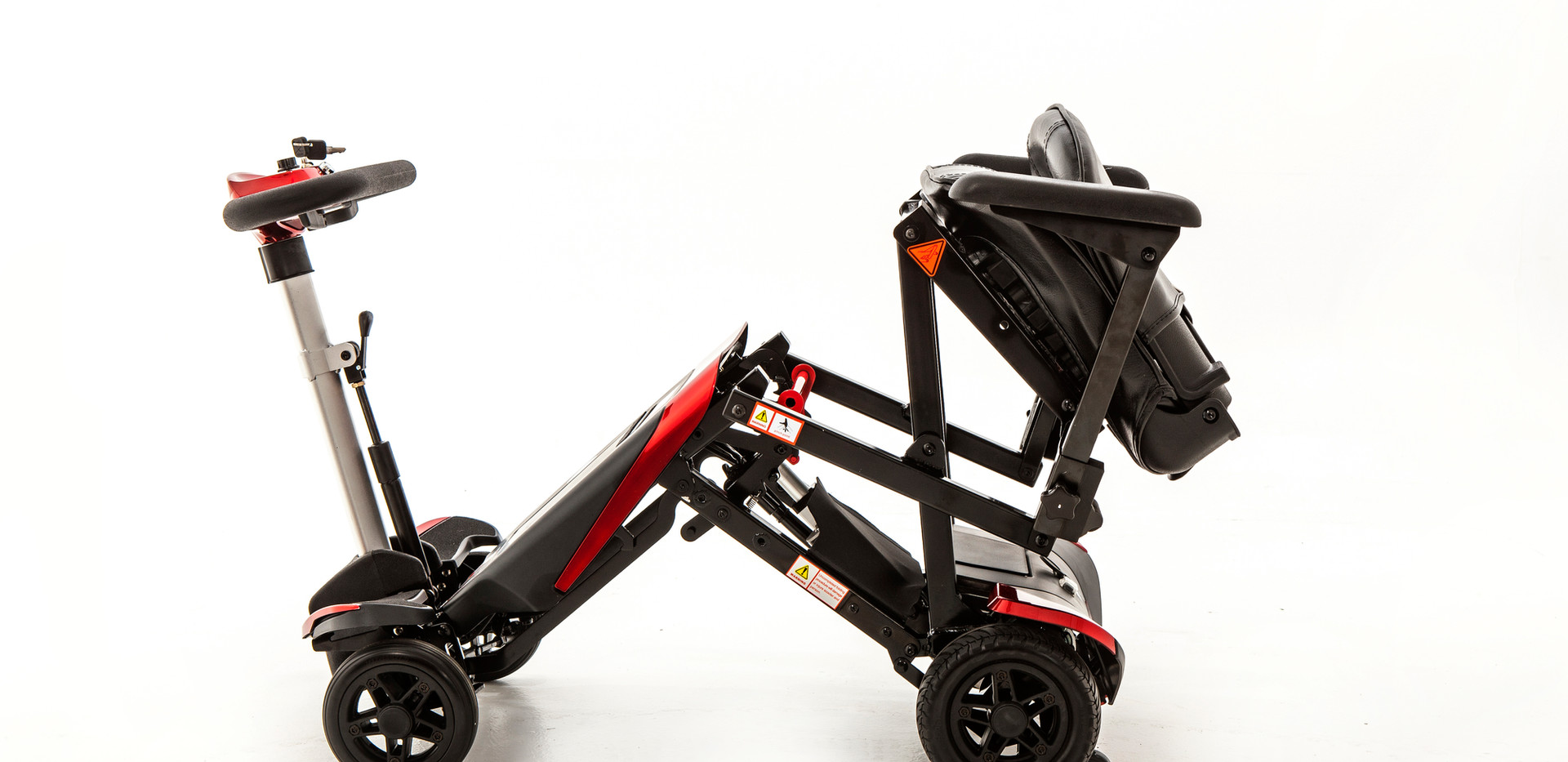 Smarti compact mobility scooter part folded