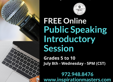 FREE Online Public Speaking Introductory Class
