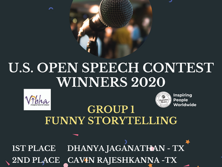 Congratulations to the Winners of Online U.S. Open Speech Contest!​