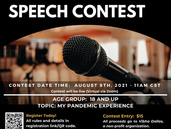 U.S. Open Speech Contest Online for 18 & up