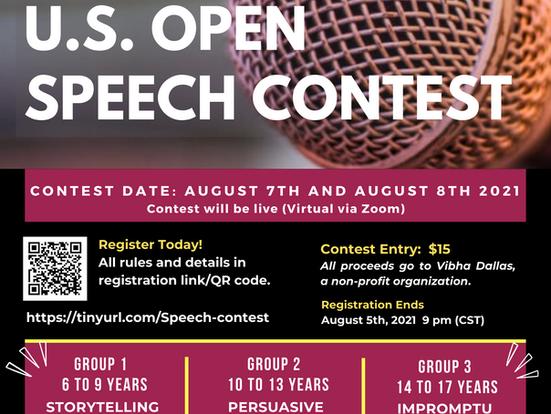 U.S. Open Speech Contest Online