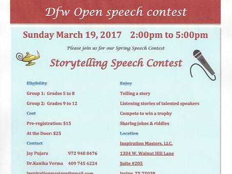 Storytelling Speech Contest   March 19, 2017