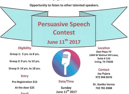 DFW Open Speech Contest | June 11, 2017