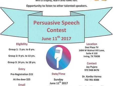 DFW Open Speech Contest   June 11, 2017