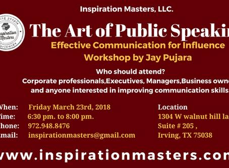 The Art of Public Speaking Workshop