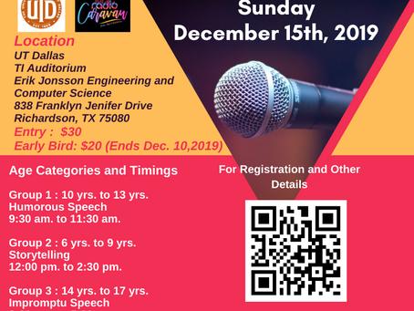 DFW Open Speech Contest December 2019