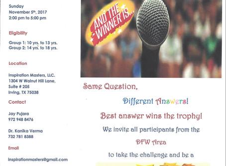 Impromptu Speech Contest