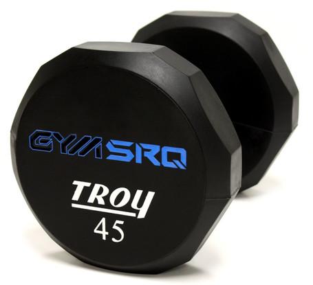TSD-UL Troy 12-Sided Urethene Custom Logo Dumbbell