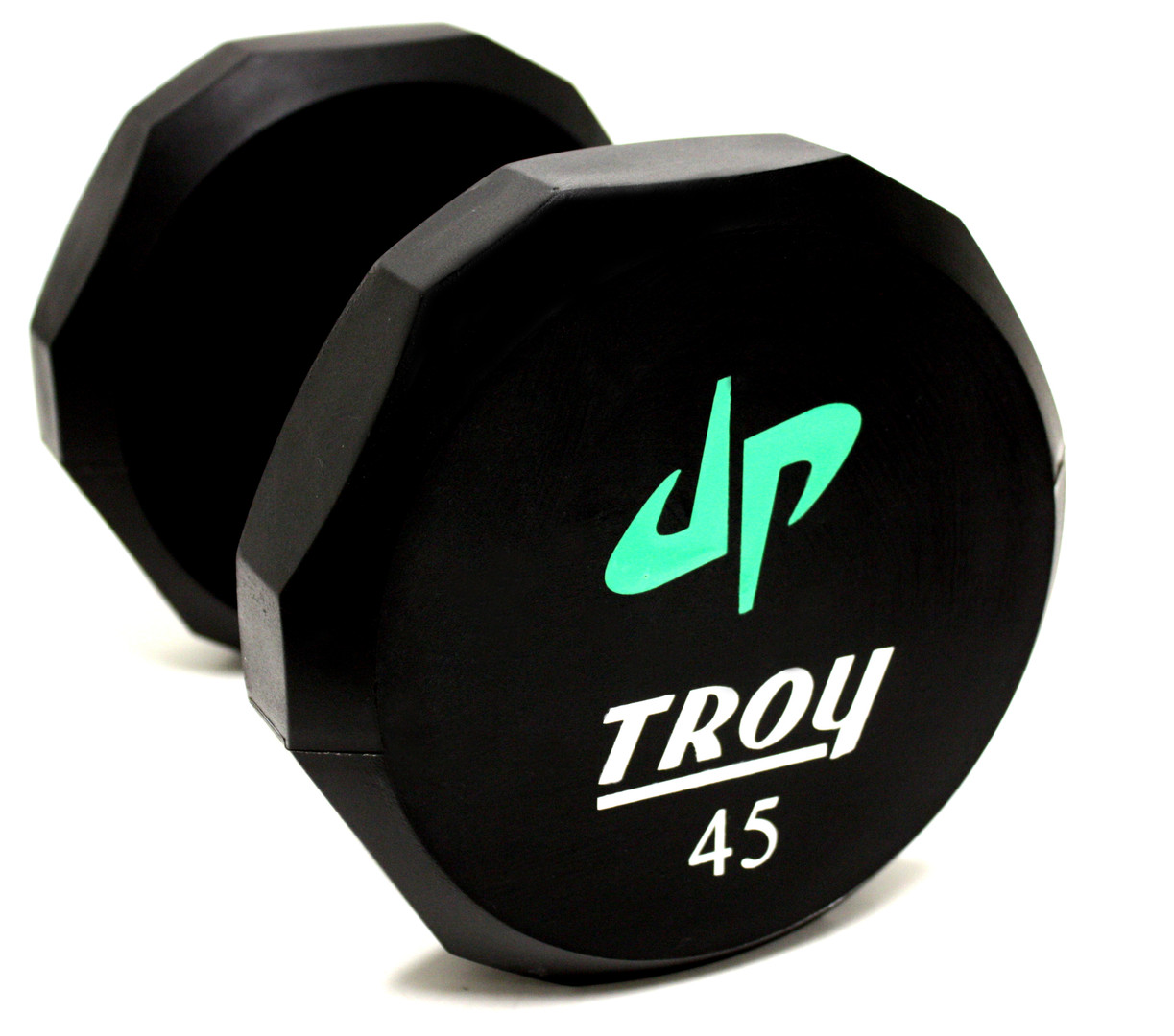 TSD-UL Troy 12-Sided Urethene Custom Logo Dumbbell