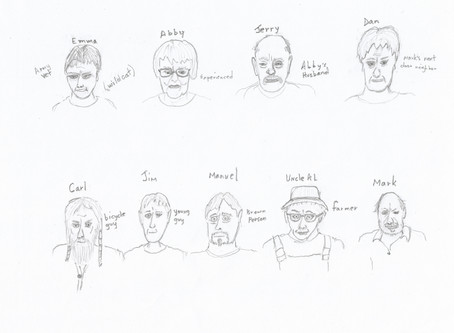 THE BREAKDOWN - character illustrations - # one