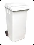 Central das lixeiras, contêiner de lixo 120 litros,