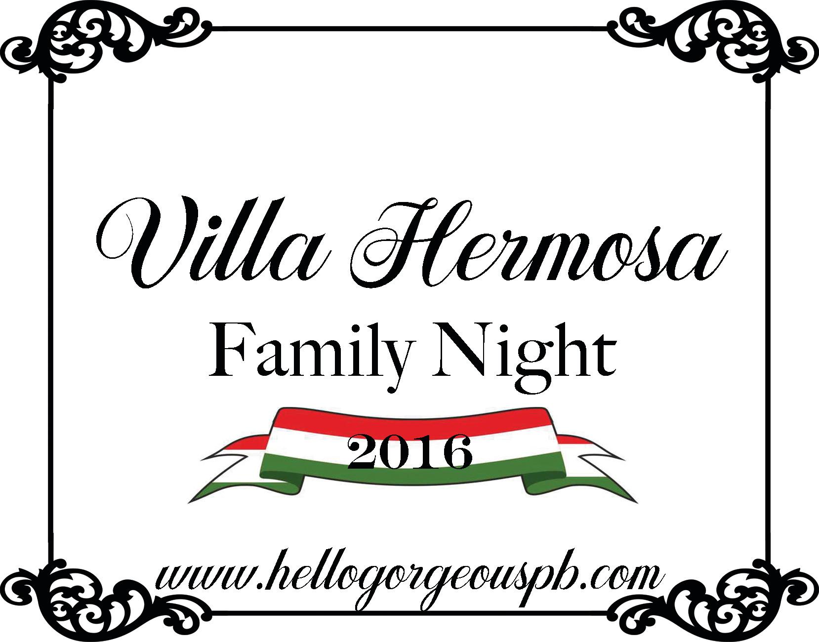 Villa Hermosa Family Night 2016