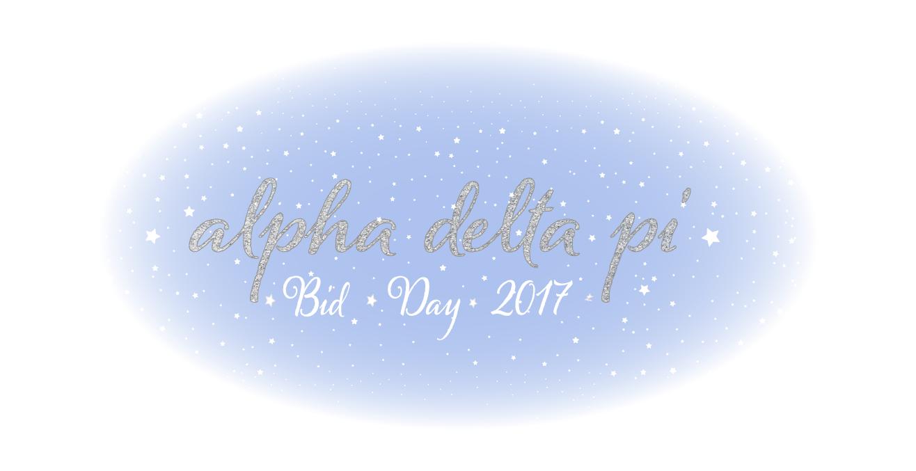 Alpha Delta Pi Bid Day 2017