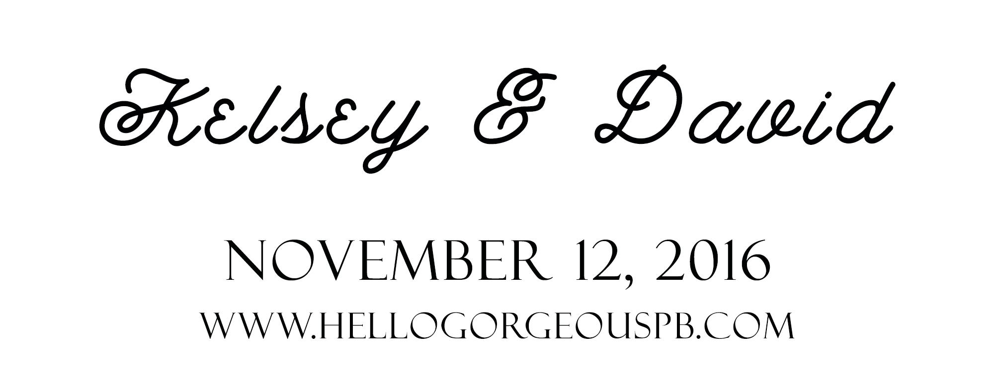 Kelsey & David's Wedding