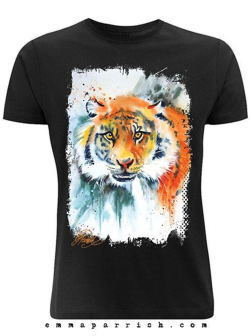 "Organic Mens/ Unisex T Shirt - Tiger ""Khan"" by Emma Parrish"