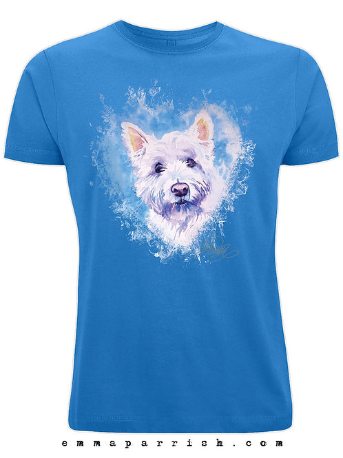 Organic Mens/ Unisex T Shirt - Westie by Emma Parrish
