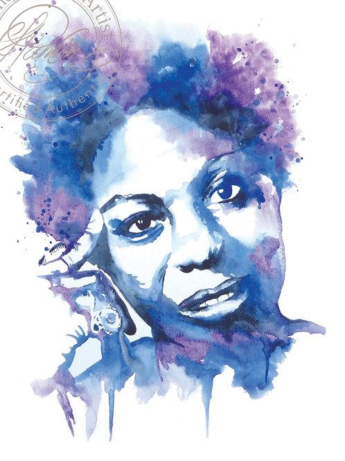 Nina Simone Original Watercolour