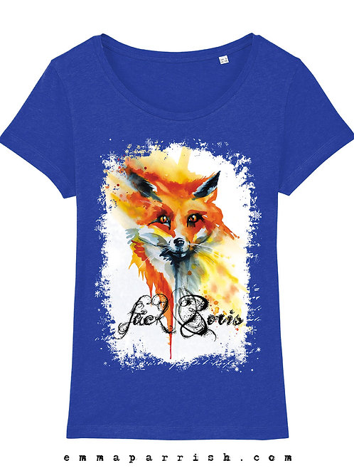 Organic Womens T Shirt -  F*ck Boris by Emma Parrish