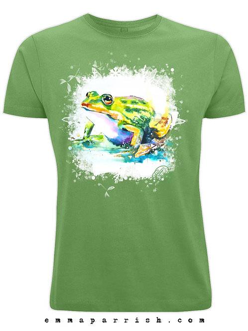 Organic Mens/ Unisex T Shirt - Frog by Emma Parrish