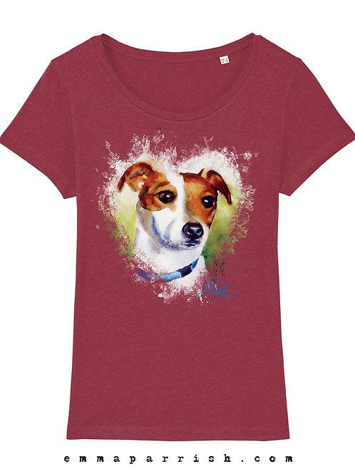 Organic Womens T Shirt - JRT by Emma Parrish