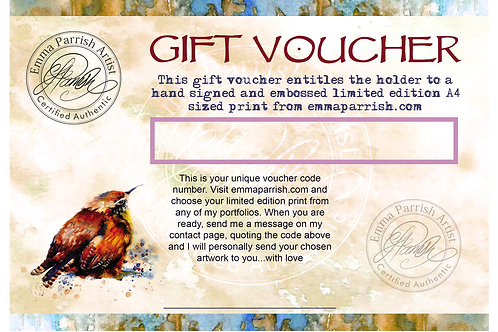 Gift Voucher for Print Size A4 (210 x 297mm)