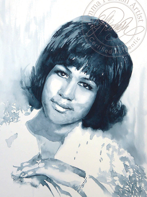 Aretha Franklin Original Watercolour
