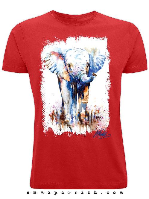 Organic Mens/ Unisex T Shirt - Baby Elephant by Emma Parrish