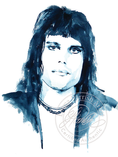 Freddie Mercury Study in Grey Original Watercolour
