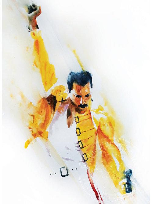 Freddie Mercury - Study in Yellow