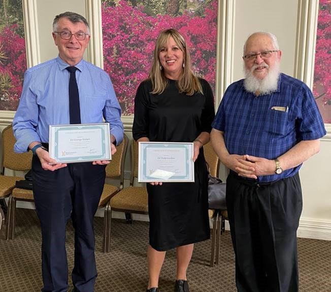 Dr George Halasz, Dr Vicki Gordon and Rabbi Philip Heilbrunn OAM, President RCV