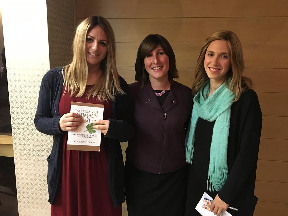 Rebbetzin Sarah  Rabin, Dr Debow and Rebbetzin Chaya Cowen