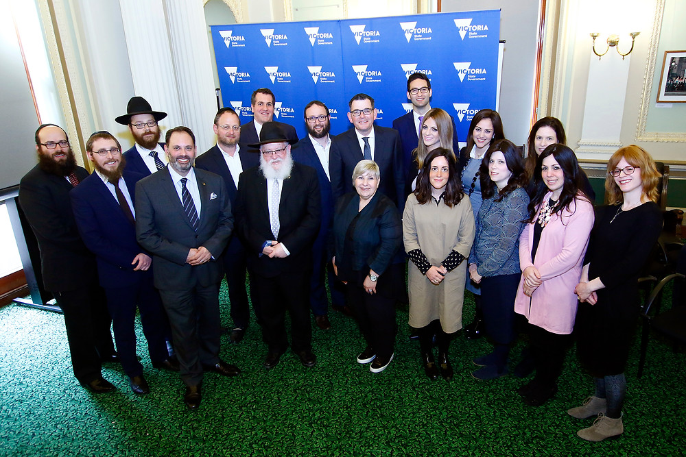 The RCV Committee Rabbis and Rebbetzins with the Premier