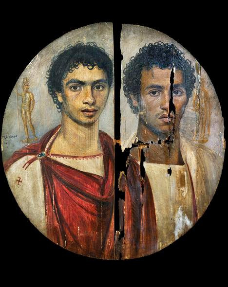 Distemper painting on wooden panel from the Fayum, Egypt. Second century CE. From the Egyptian Museum in Cairo.