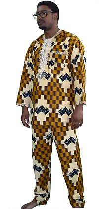 Chocolate Crown Ankara Pant Suit
