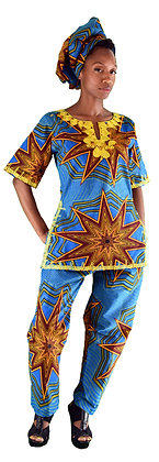 Star Burst Pant Suit
