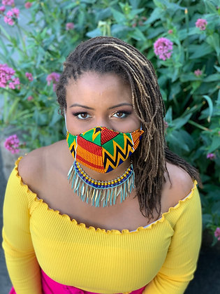 Kente Face Mask, Extra Small