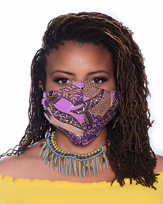Purple Reign Face Mask, Medium