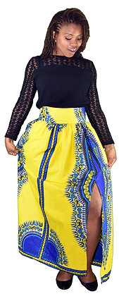 Toyya Bhatik Side Slit Maxi Skirt