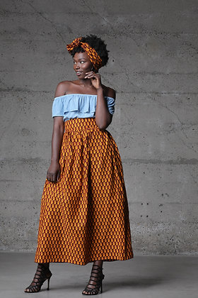 Cowry Shell Maxi Skirt