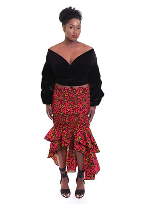 Wine Vine Stretch Skirt