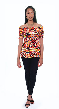Ori Stretch Peplum Blouse