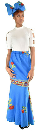 Blue Rose Mermaid Skirt